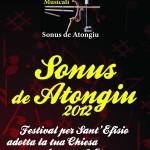 """ASSOCIAZIONE INCONTRI MUSICALI. Pieghevole A5  (frontespizio) """"Sonus de Atongiu 2012"""" (Novembre 2012)"""