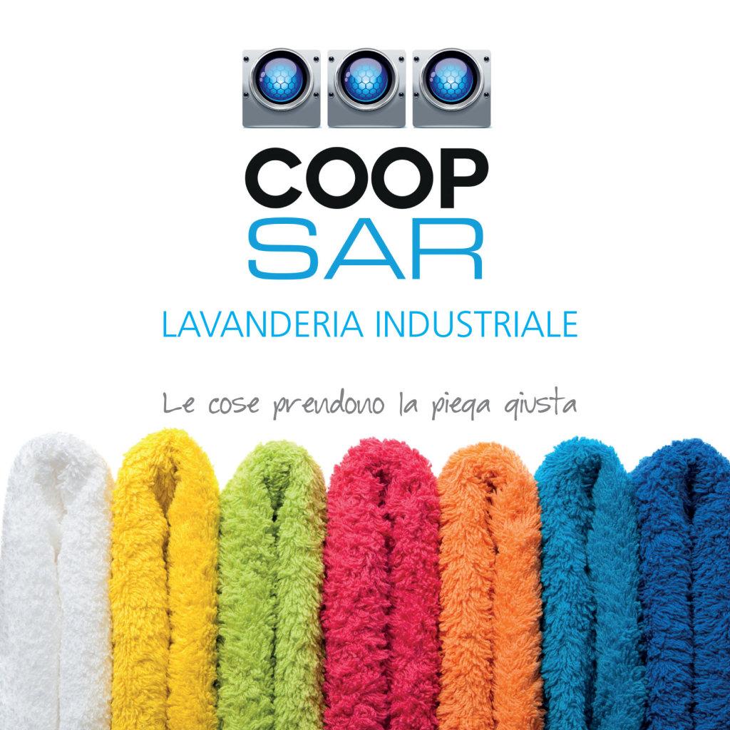 COOP SAR Lavanderia Industriale Brochure - Febbraio 2015. Studio e realizzazione del logo, dell'immagine coordinata, della brochure e del biglietto da visite
