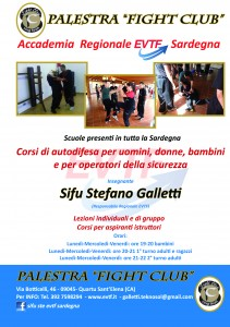 Palestra FIGHT CLUB (Quartu S. Elena). Flyer A5 (retro) (Novembre 2012)