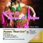 Palestra FIGHT CLUB (Quartu S. Elena). Flyer Tango e Danza del ventre Ft. 14.8x14.8 cm (retro) (novembre 2012)