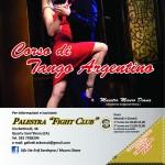 Palestra FIGHT CLUB (Quartu S. Elena). Flyer Tango e Danza del Ventre formato quadrato cm 14,8x14,8 (fronte) (Novembre 2012)