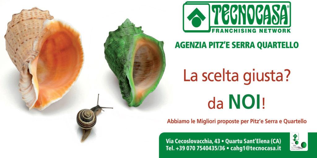 Tecnocasa- Studio Pitz'e Serra-Quartello. 6x3 per Posterbus. Studio e realizzazione 6x3 e Flyer A5