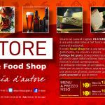 RI-STORE Ristopub & Food Shop - Studio e progettazione logo, Restyling locale, Immagine coordinata, Flyer, BV , TOTEM, La Città in Tasca