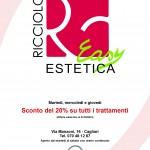RICCIOLO EASY ESTETICA (Cagliari). Flyer A5 (Gennaio 2013) (fronte)